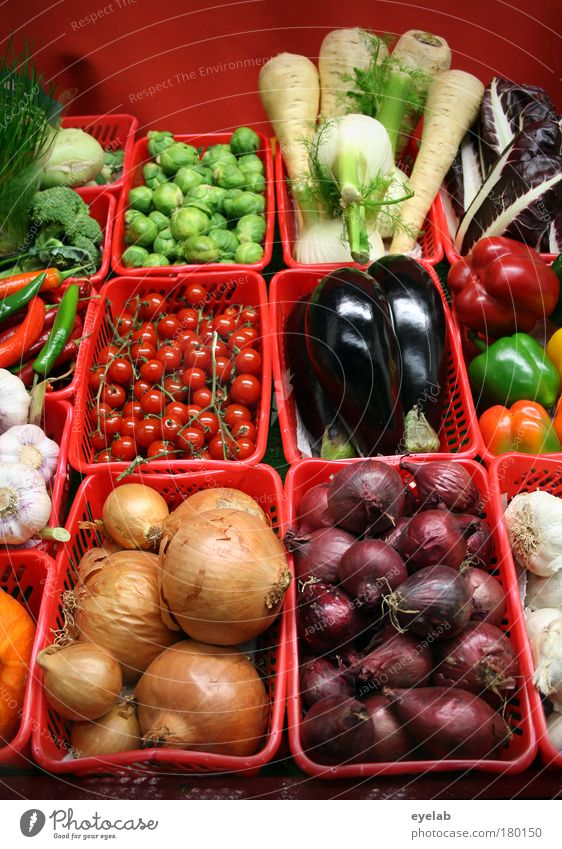 Red Plant Healthy Natural Food Nutrition Good Vegetable Delicious Organic produce Markets Cabbage Basket Tomato Juicy Supermarket