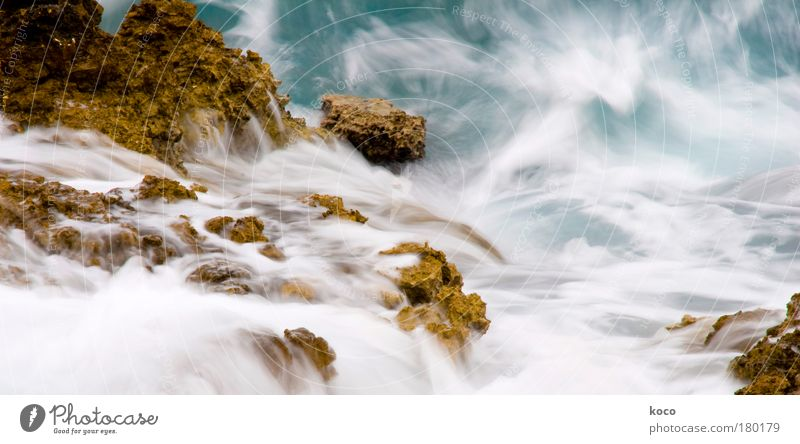 H2O Colour photo Exterior shot Deserted Day Motion blur Nature Landscape Water Summer Waves River Esthetic Fluid Beautiful Blue Brown Green White Life Movement