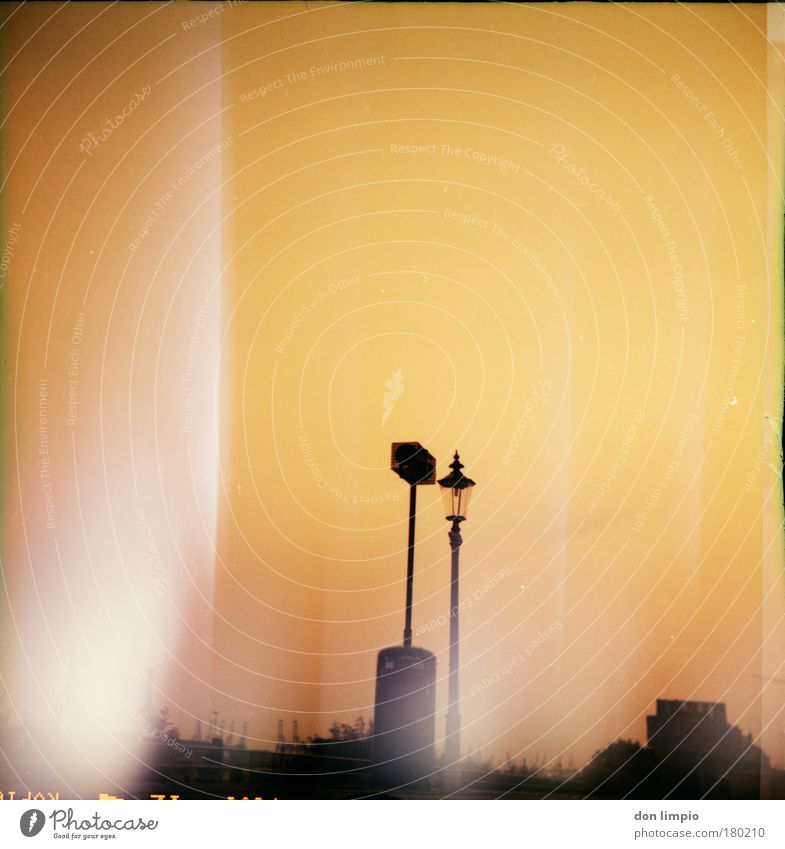 Summer Yellow Gold Horizon Climate Harbour Lantern Loudspeaker Beautiful weather Crane Industrial plant Cross processing Apocalyptic sentiment Cloudless sky