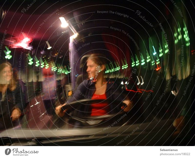A busdrivers dreams Bus Barcelona Woman Light Window pane