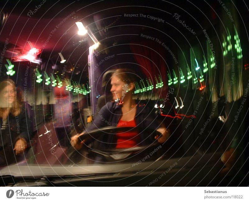 Woman Bus Window pane Barcelona Catalonia