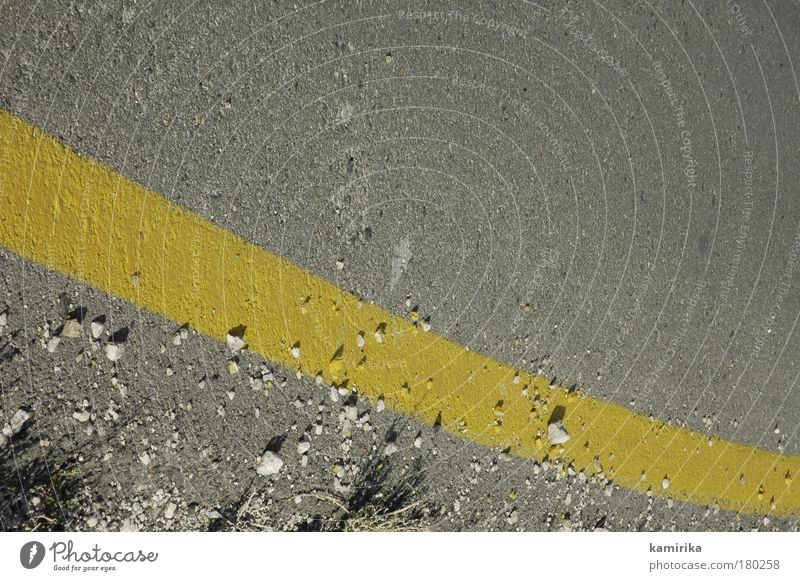 eggyolk Colour photo Exterior shot Close-up Deserted Copy Space top Light Shadow Downward Traffic infrastructure Road traffic Street Esthetic Dirty Sharp-edged