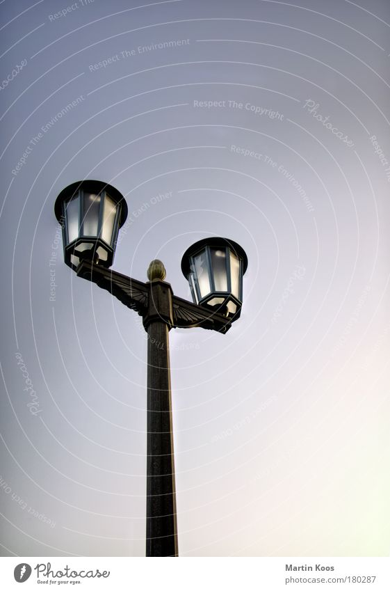 lux Style Living or residing Design socialist urbanism Energy-saving bulb Historic Esthetic GDR Roof Facade Architecture Light Lighting Street lighting Lantern