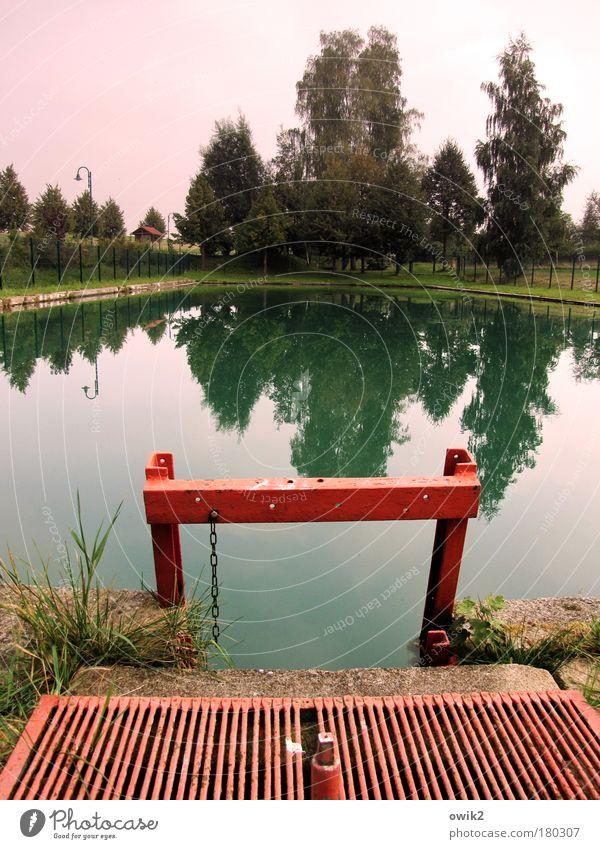 Water Green Tree Red Calm Stone Lighting Horizon Pink Leisure and hobbies Design Change Transience Swimming pool Idyll Fence