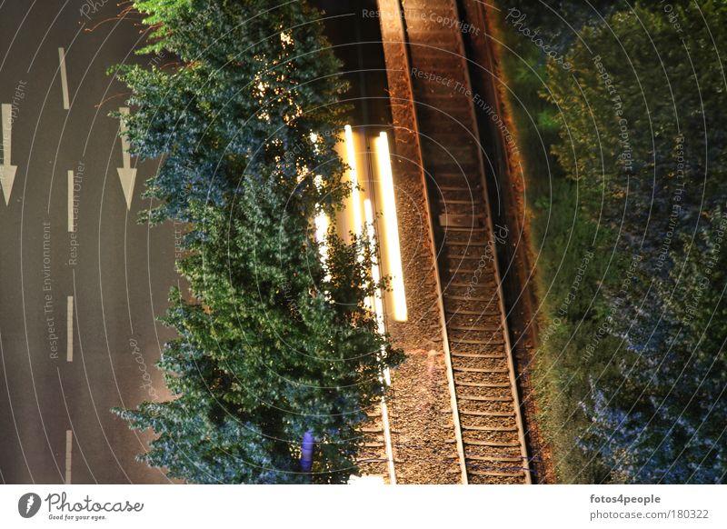 artificial light Colour photo Exterior shot Deserted Night Artificial light Light Long exposure Bird's-eye view Vacation & Travel Far-off places Logistics