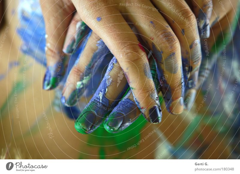 Hand Colour Fingers Multicoloured To hold on Body art Fingernail Painted Parts of body Bodypainting Hold hands