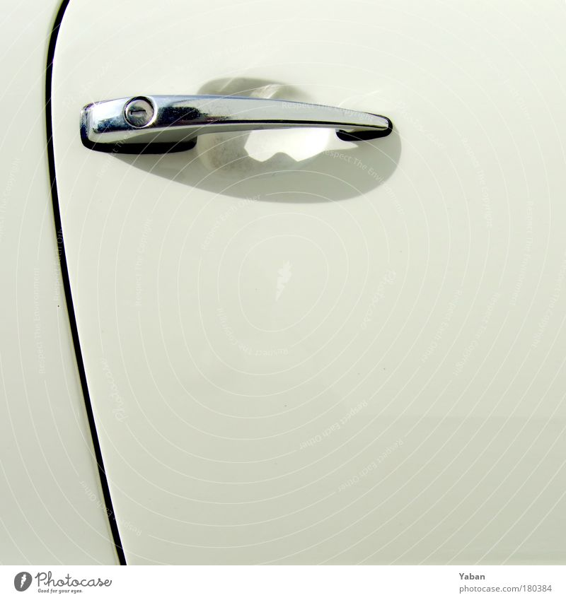 Oldtimer White Door Colour photo Detail Copy Space right Copy Space bottom Copy Space middle Elegant Leisure and hobbies Means of transport Motoring Vehicle Car