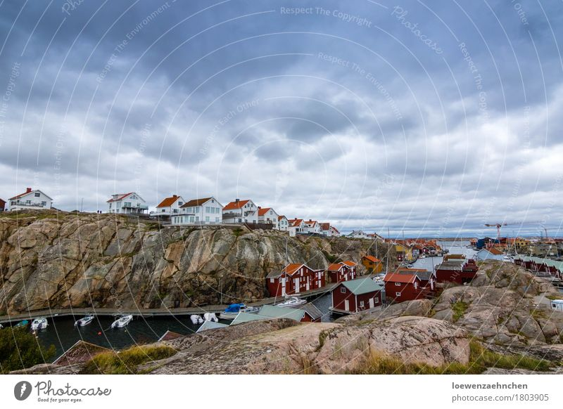 Nature Vacation & Travel Summer Landscape Clouds House (Residential Structure) Far-off places Dark Freedom Gray Rock Tourism Rain Dangerous Adventure Threat