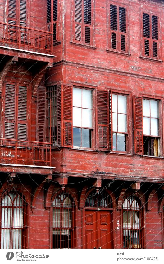Old City Red Vacation & Travel House (Residential Structure) Street Wall (building) Wood Wall (barrier) Building Architecture Facade Esthetic Village