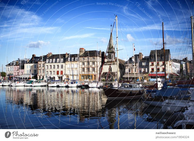 Port of Honfleur France Europe Small Town Port City Downtown Deserted House (Residential Structure) Facade Tourist Attraction Navigation Sailing ship Beautiful