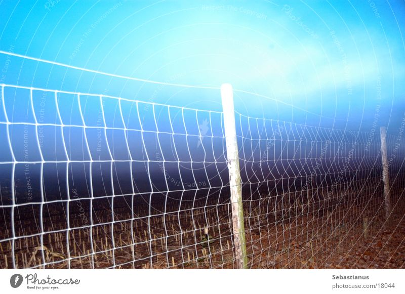 Sky Field Fence Dusk Boundary Wire netting Wire netting fence Fence post