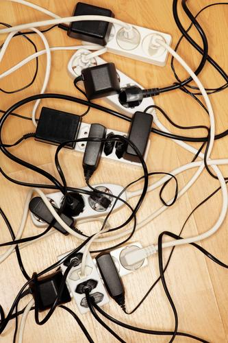 Cable mess too many tangle tangled Electric Electricity extension cord extension cords cable cables power Power transmission Deserted Story Problem Consumption