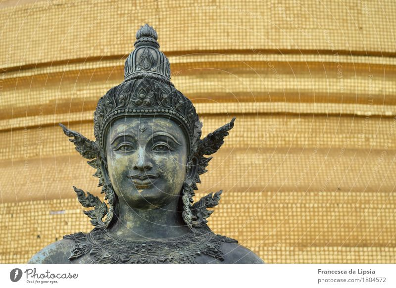 wanderlust Sculpture Bangkok Capital city Deserted Temple Tourist Attraction Metal Glittering Vacation & Travel Exotic Far-off places Gold Contentment Energy