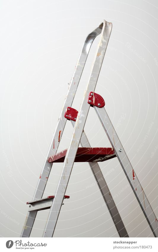 Ladders Home improvement Aluminium Aluminum Dirty Painting (action, artwork) stains stained nobody Stepladder Object photography