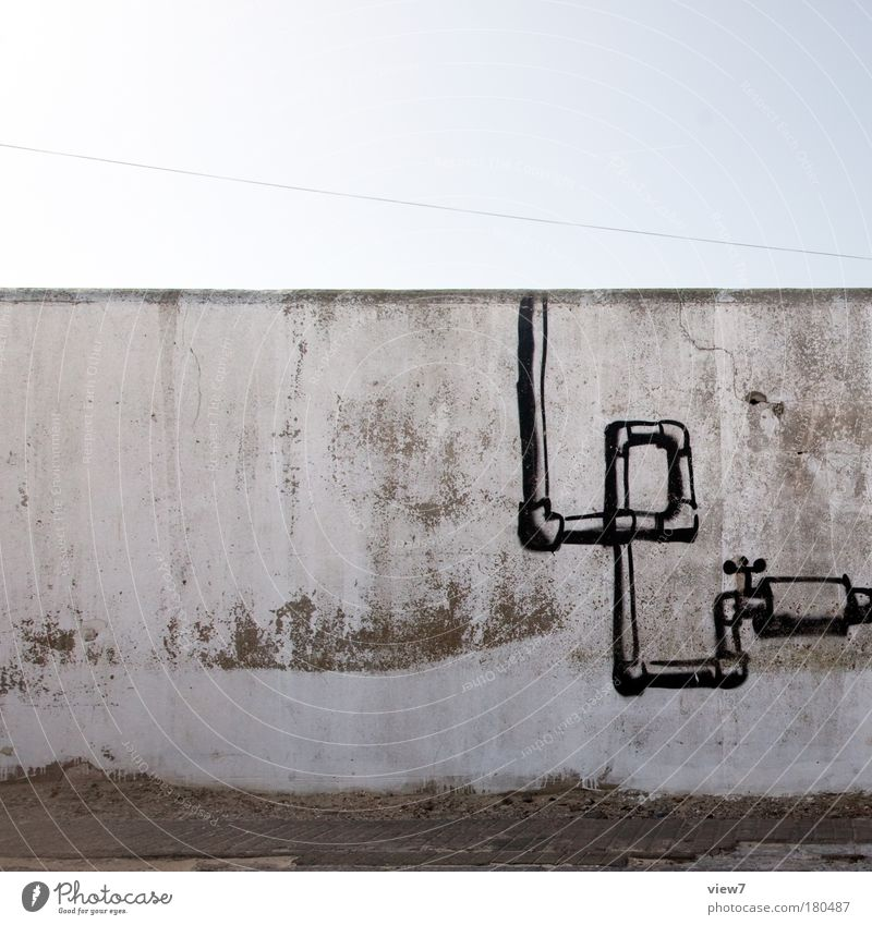 plant engineering Colour photo Subdued colour Exterior shot Detail Deserted Copy Space top Day Shadow Deep depth of field Central perspective Wall (barrier)