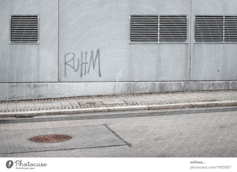 City Street Wall (building) Graffiti Wall (barrier) Gray Characters Gloomy Success Clean Tilt Sidewalk Graphic Asphalt Career Word