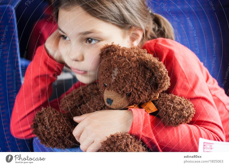 What do you think the bear thinks? Parenting Education Kindergarten Girl Teddy bear Dream Sadness Embrace Gloomy Emotions Moody Together Compassion Humanity