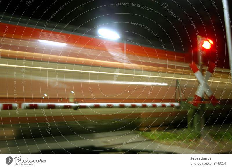 Transport Railroad Railroad tracks Traffic light Control barrier Railroad crossing