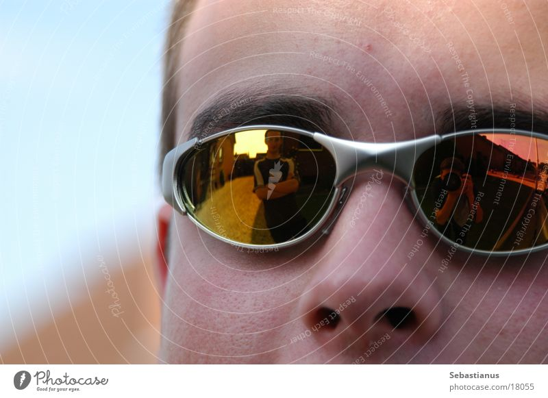 Cool³ Sunglasses Man Forehead Portrait photograph Reflection Nose Head