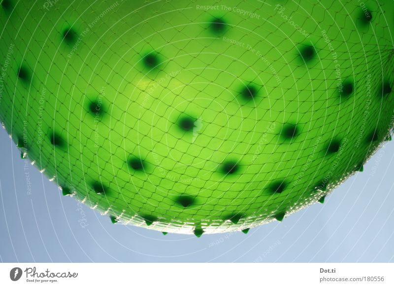 Sky Blue Green Playing Round Ball Net Fairs & Carnivals Hang Planet Rubber Spotted Ball sports Burl Pattern Stalls and stands