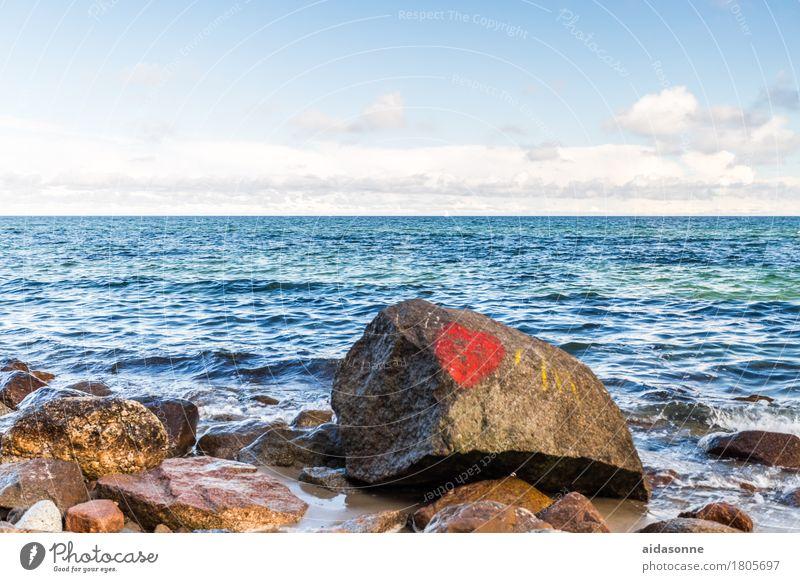Landscape Clouds Calm Love Emotions Contentment Joie de vivre (Vitality) Beautiful weather Romance Elements Baltic Sea Patient
