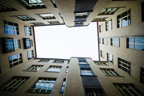 City Window Style Facade Authentic Sharp-edged Backyard Modest Kreuzberg