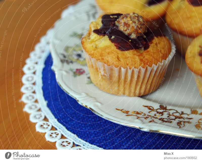Good morning muffins Colour photo Multicoloured Interior shot Close-up Detail Deserted Copy Space left Copy Space bottom Morning Day Shallow depth of field Food
