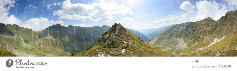 Nature Vacation & Travel Summer Calm Relaxation Environment Landscape Mountain Romania Horizon Leisure and hobbies Tourism Climbing Peak To enjoy