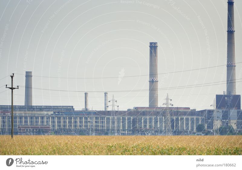 Dark Field Fear Industry Energy industry Gloomy Derelict Chimney Electricity generating station Gigantic