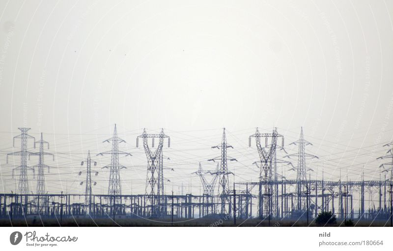 Energy Industry Electricity Electricity generating station Technology Electricity pylon Muddled Hideous Energy crisis High-power current