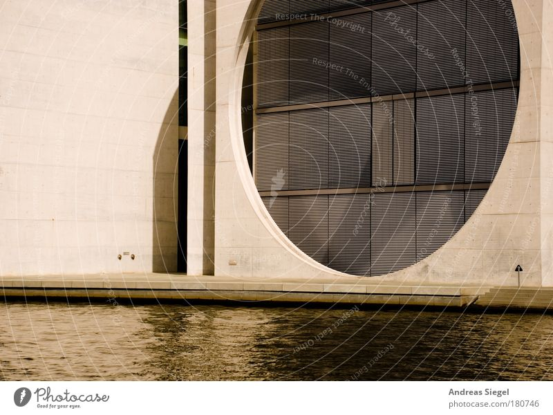 Spree arch Colour photo Subdued colour Exterior shot Deserted Day Light Shadow Sunlight River bank Downtown Berlin Capital city House (Residential Structure)