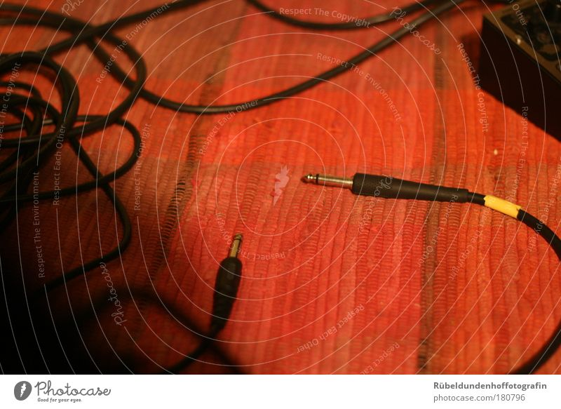 Red Black Yellow Line Brown Technology Cable Plastic Carpet Media Recording studio New Media