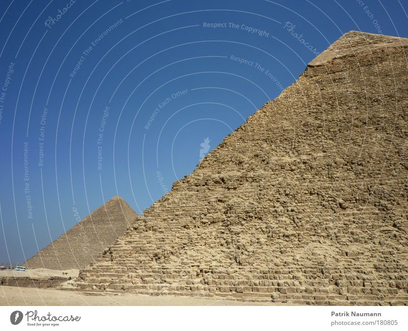 The Two Great Pyramids Exterior shot Deserted Copy Space top Sunlight Wide angle Vacation & Travel Tourism Trip Far-off places Sightseeing Expedition Summer
