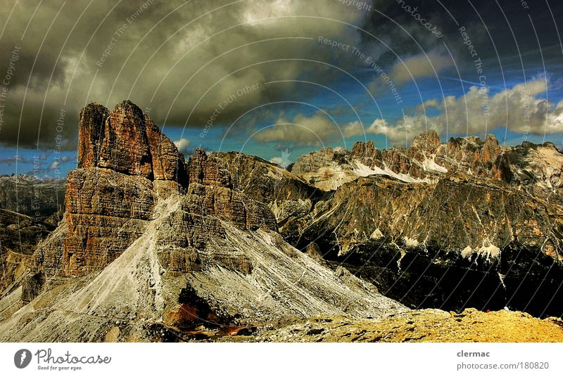 dolomites summit view Colour photo Exterior shot Experimental Deserted Day Forward Vacation & Travel Tourism Trip Far-off places Freedom Summer Summer vacation