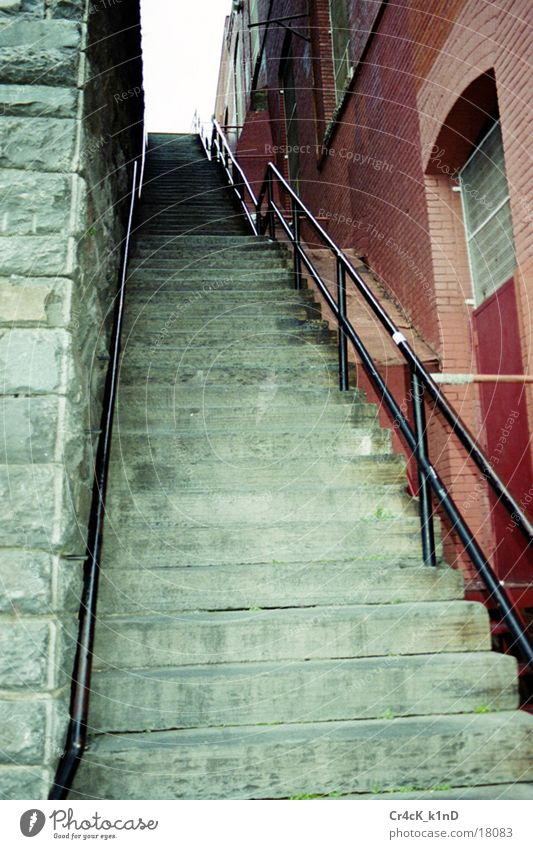 House (Residential Structure) Wall (building) Architecture Stairs Handrail