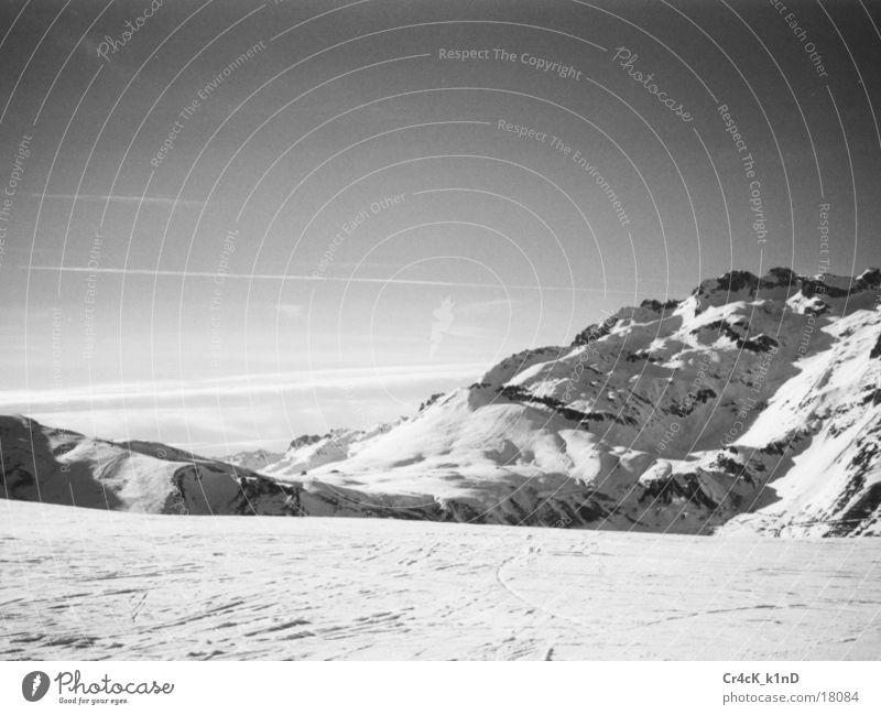Winter Snow Mountain Landscape Europe Alps Idyll Snowscape