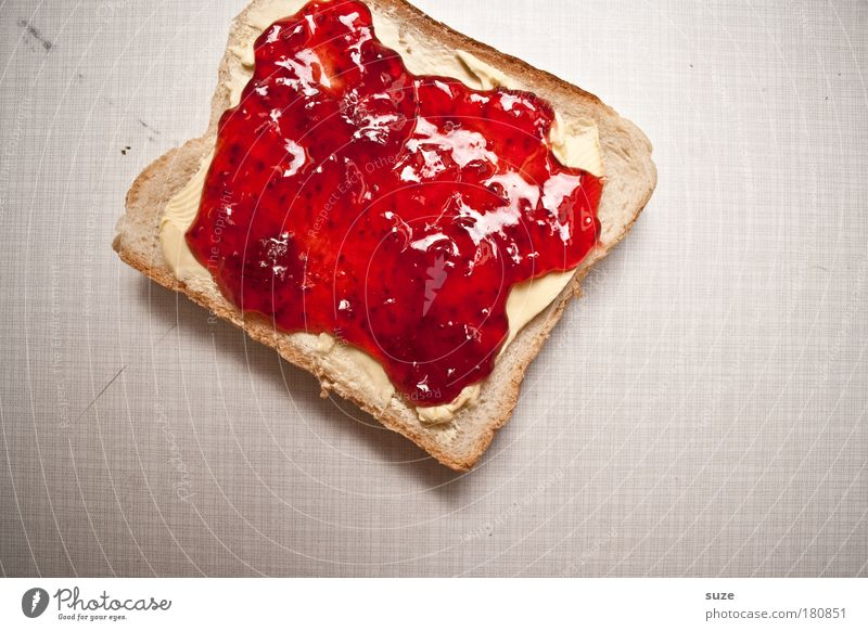 a toast ... Food Bread Jam Nutrition Breakfast Organic produce Vegetarian diet Fasting Table Delicious Sweet Red Appetite Toast Butter Sense of taste Day