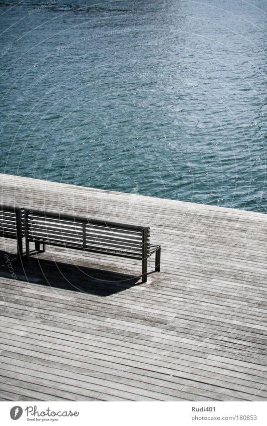 Blue Vacation & Travel Ocean Calm Loneliness Coast Contentment Wait Free Modern Bench Longing Spain Terrace Wanderlust Barcelona