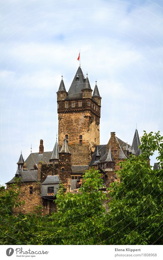 "Reichsburg Cochem ""Moselle Eifel"" Germany Europe Small Town Old town Castle Manmade structures Building Architecture Tourist Attraction Landmark Monument"