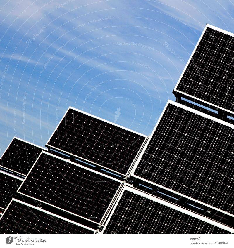 regenerative energy Technology Energy industry Renewable energy Solar Power Energy crisis Sky Climate change Line Esthetic Sharp-edged Large Tall Modern New