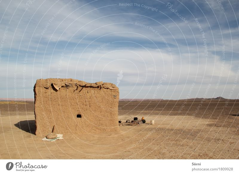 nomad Trip Adventure Far-off places Freedom Desert Sahara House (Residential Structure) Hill Morocco Hut Manmade structures Mud hut Wall (barrier)