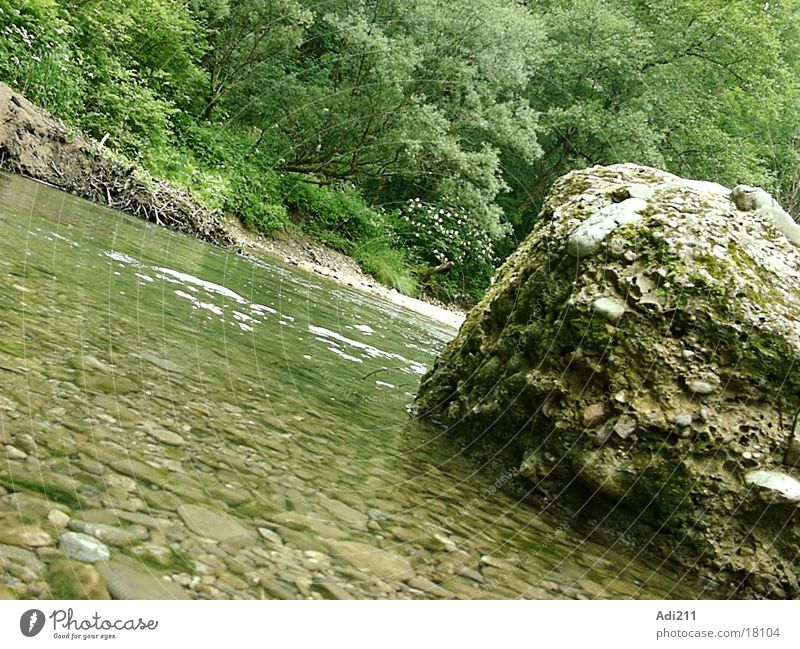 Mangfall River Rock Water Graffiti