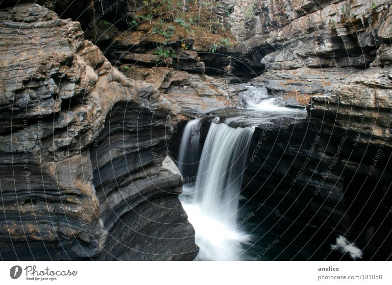 between rocks Environment Nature Water Rock Canyon Waterfall Simple Natural Brown White Relaxation Peace Serene Brazil Goiás chapada dos veadeiros Colour photo