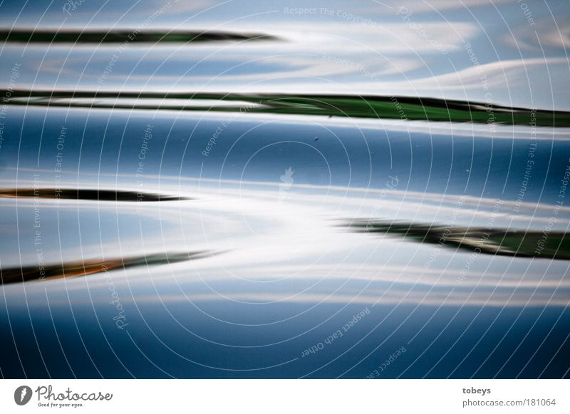 division Art Work of art Painting and drawing (object) Water Lake Brook River Modern Slimy Blue Design Surrealism Colour photo Detail Experimental Abstract