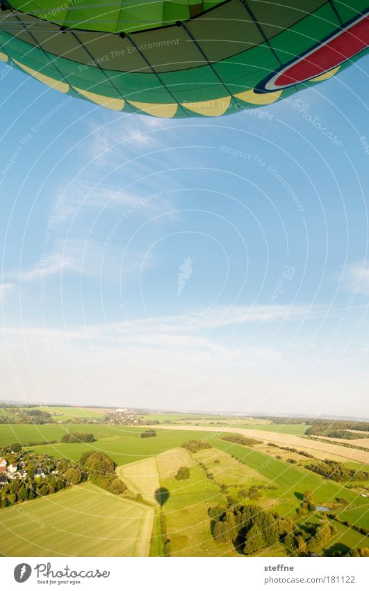 Fly, steffne, fly! Colour photo Multicoloured Exterior shot Aerial photograph Copy Space bottom Day Deep depth of field Wide angle Landscape Sky Summer