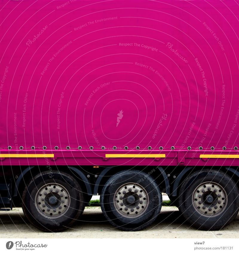 Far-off places Street Line Pink Arrangement Design Large Transport Authentic Stripe Logistics Pure Sign Truck Motor vehicle Vehicle