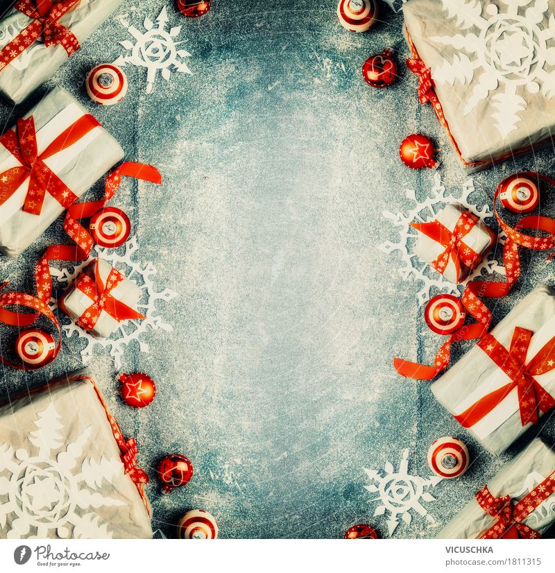 Christmas & Advent Joy Winter Interior design Background picture Style Feasts & Celebrations Design Decoration Retro Happiness Shopping Gift Kitsch Tradition