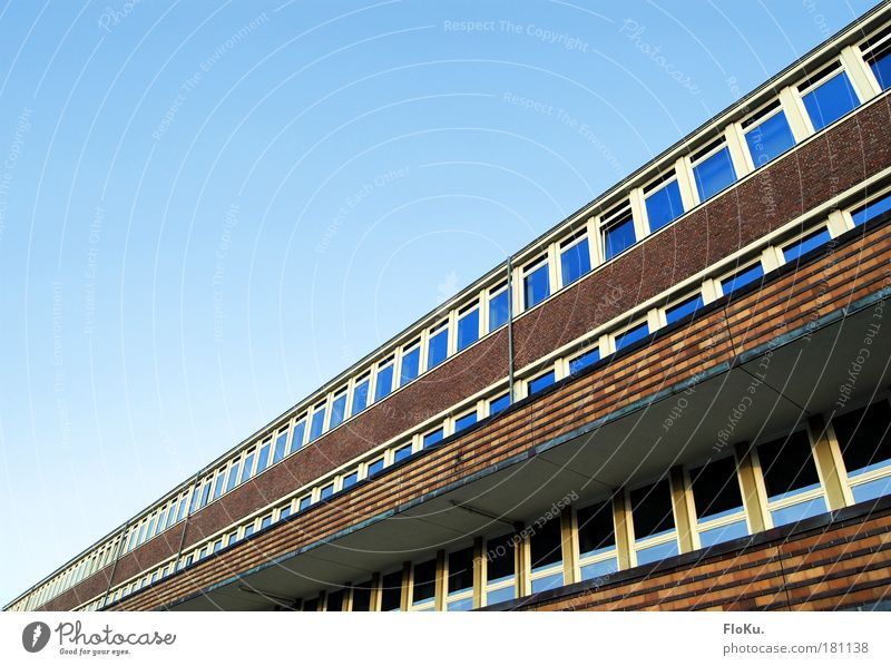 Monotonous facade Colour photo Exterior shot Deserted Copy Space left Copy Space top Day Kiel Schleswig-Holstein Europe House (Residential Structure)