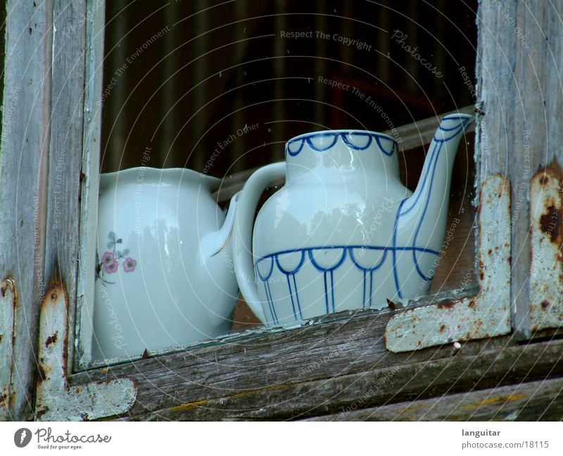 teapot Teapot Window Brittle Living or residing coffee pot Old Window pane