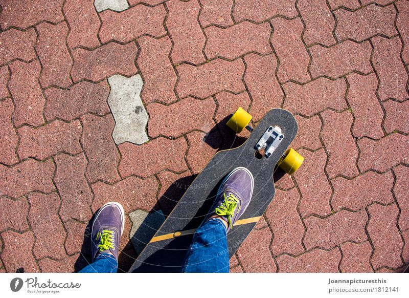 Human being Youth (Young adults) City Street Movement Sports Lifestyle Legs Feet Leisure and hobbies Cool (slang) Driving Hip & trendy Skateboard Sneakers Punk